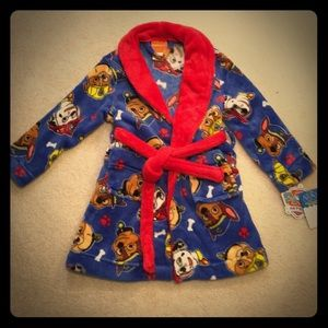 Nickelodeon Boys Paw Patrol Luxe Plush Robe Bathrobe